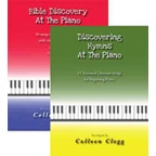 Bundle includes both Bible Discovery for the Piano and Discovering Hymns for the Piano.  Both books are beginner level.