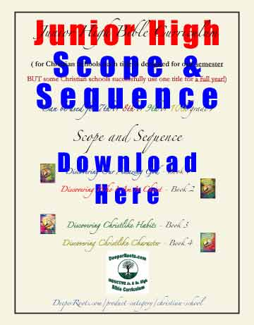 Home School Junior High SCOPE & SEQUENCE Free Download covers all four titles