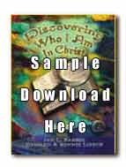 Sample Portion: Christian School DWIAC Teachers instructions, TOC, sample lesson